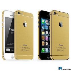 Золотая наклейка виниловая на Iphone 5/5s