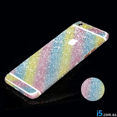 Наклейка радуга стразы на все Iphone
