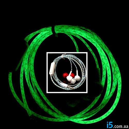 Наушники светящиеся Glow neon для Iphone