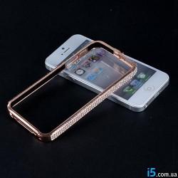 Чехол эллегантный бампер со стразами на Iphone 5/5s