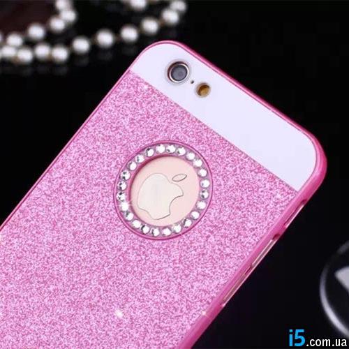 Чехол модный розовый на Iphone 6 plus