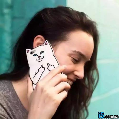Чехол кот f ** k off на Iphone 6/6s