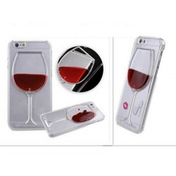 Чехол бокал вина жидкость на Iphone 6/6s