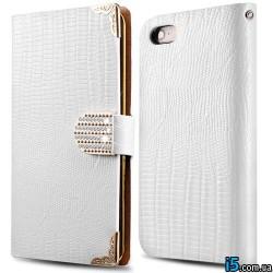 Чехол flip белая книжка на Iphone 5/5s