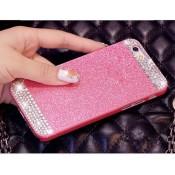 Чехол розовый стразы на Iphone 5/5s