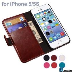 Чехол книжка на заклепке на Iphone 5/5s