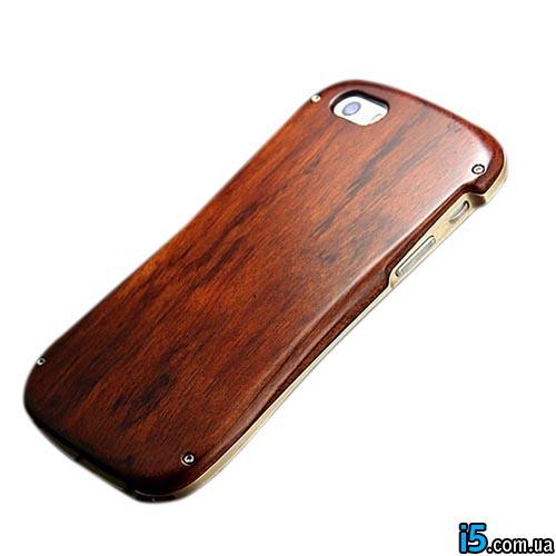 Чехол алюминий дерево бампер на Iphone 5/5s