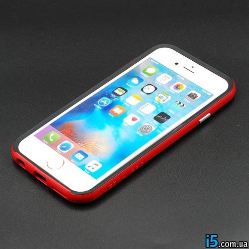 Чехол ребристый красный на Iphone 6/6s