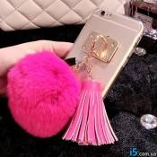 Чехол iring меховой брелок на Iphone 6/6s
