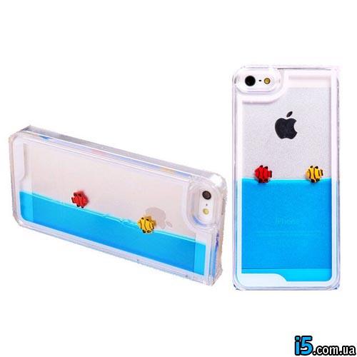 Чехол вода с рыбками на Iphone 5/5s