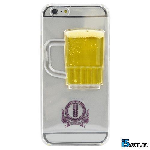 Чехол Бокал Пива жидкость на Iphone 6/6s