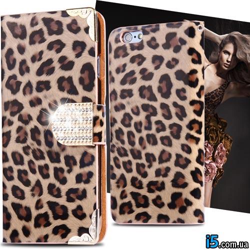 Чехол книжка Leopard на Iphone 6/6s