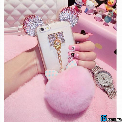 Чехол Crystal Mickey на Iphone 6 plus