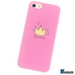 Чехол розовый Princess на Iphone 6/6s