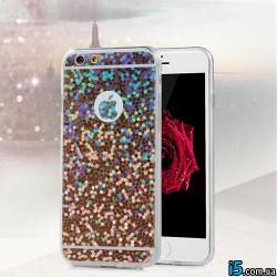 Чехол блестки на Iphone 6 plus