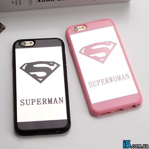 Чехол super man&woman на Iphone 6 plus