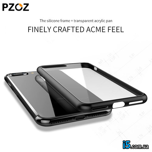 Чехол черный глянцевый на Iphone 7