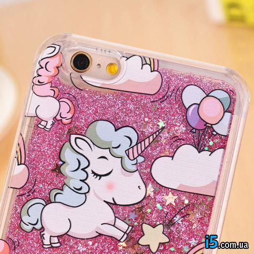 Чехол розовый единорог на Iphone 8 PLUS