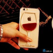 Чехол бокал вина на Iphone 8
