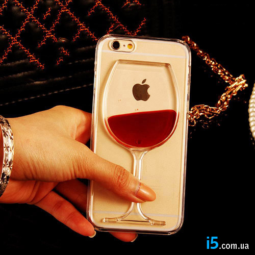 Чехол вино в бокале на Iphone 8 PLUS