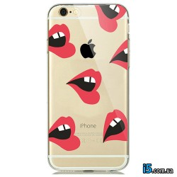 Чехол красные губы на Iphone 8 PLUS