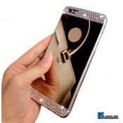 Чехол зеркальный со стразами на Iphone 8