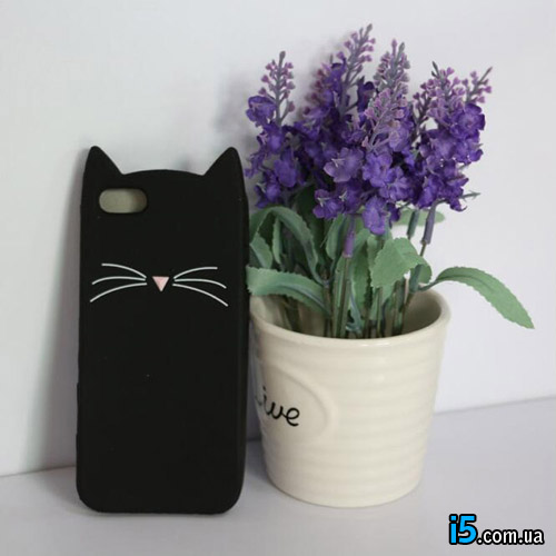 Чехол черный котик на Iphone 7 PLUS