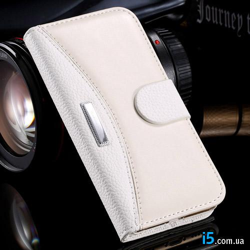 Чехол белая кожа на Iphone 8 PLUS