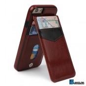 Чехол кожаный бумажник на Iphone 8