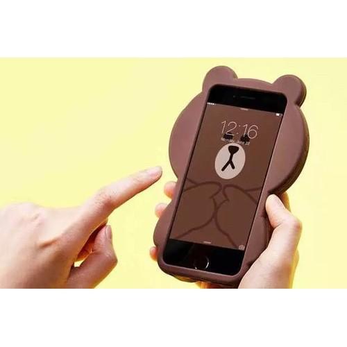 Чехол коричневый медвежонок  на Iphone 7 PLUS