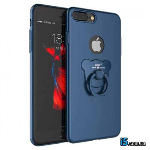 Чехол мишка с кольцом на Iphone 8