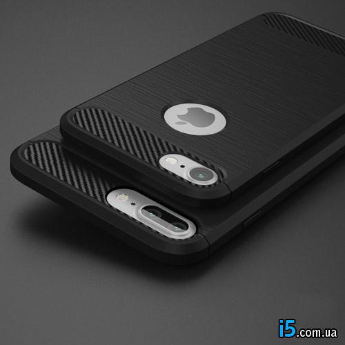 Чехол ребристый черный на Iphone 7 PLUS