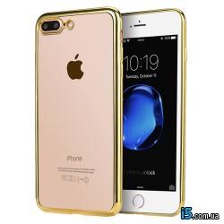 Чехол силиконовый золото на Iphone 7