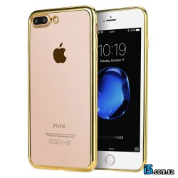 Чехол золотая рамка на Iphone 7 PLUS
