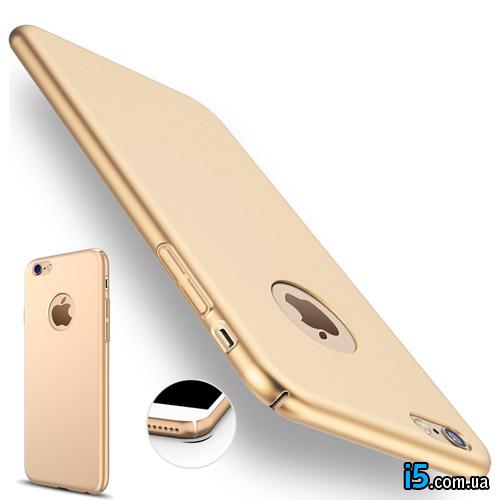 Чехол ультратонкий золотой на Iphone 8