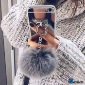 Чехол зеркальный с мехом на Iphone 8