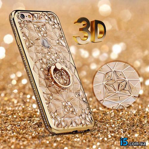 Чехол золотое кольцо на Iphone 7