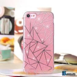 Чехол блестки на Iphone 7 PLUS