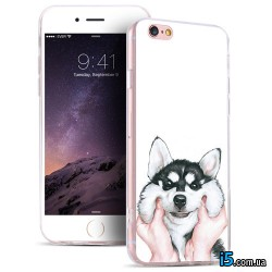 Чехол мультяшный пес на Iphone 7 PLUS