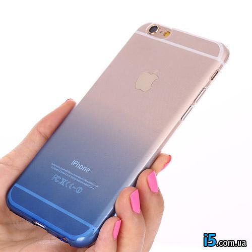 Чехол синий градиент на Iphone 7 PLUS