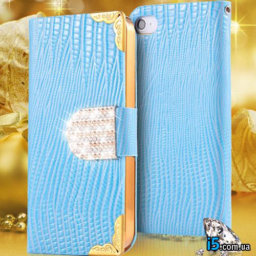 Чехол голубая книжка флип на Iphone 6/6s