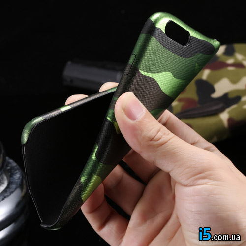 Чехол зеленый военный Камуфляж  на Iphone 6/6s plus