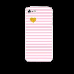 Чехол розовая полоска на Iphone 7 plus