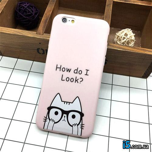 Чехол силиконовый Котик на Iphone 6/6s plus