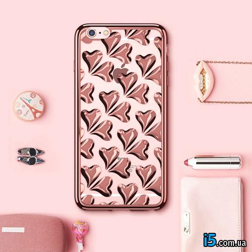 Чехол силиконовые Сердца на Iphone 6/6s plus