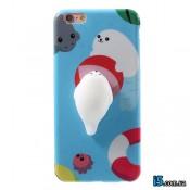 Чехол силиконовый Объемный тюлень на Iphone 7 PLUS