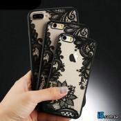 Чехол пластиковый Кружево на Iphone 7