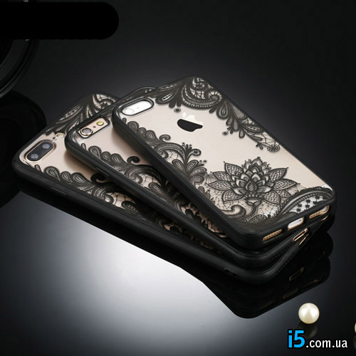 Чехол пластиковый Винтажное кружево на Iphone 6/6s