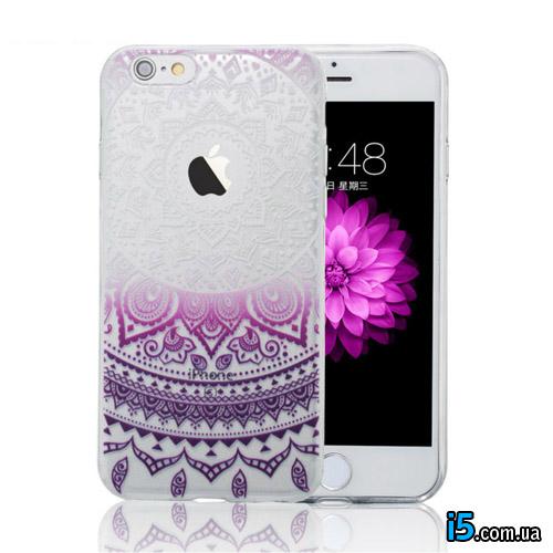 Чехол пластиковый Фиолетовый узор на Iphone 8 PLUS