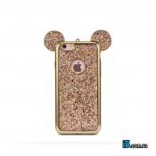 Чехол силиконовый Микки блестки на Iphone 7